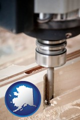 alaska a CNC milling machine cutting wood