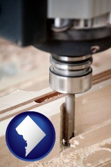 washington-dc a CNC milling machine cutting wood