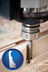 delaware a CNC milling machine cutting wood