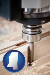 mississippi a CNC milling machine cutting wood