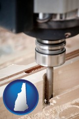 new-hampshire a CNC milling machine cutting wood