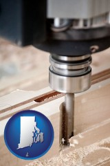 rhode-island a CNC milling machine cutting wood
